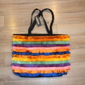 NWT Rainbow tassel bag